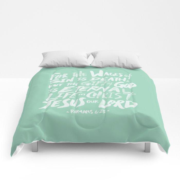 Romans 6: 23 x Mint Comforters