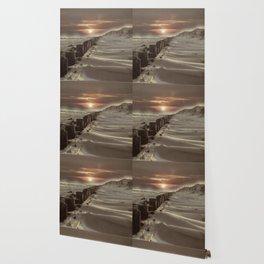 Fort Tilden Beach NYC sunset Wallpaper
