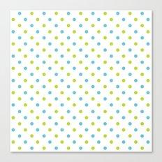 Fun Dots blue green Canvas Print