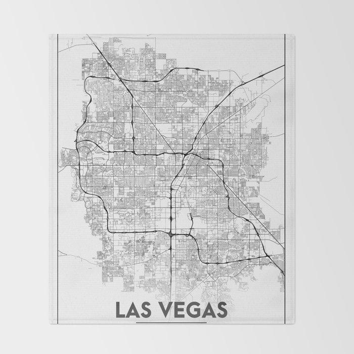 Minimal City Maps Map Of Las Vegas Nevada United States Throw - Las-vegas-us-map