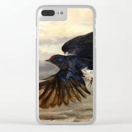 Blue Wings Clear iPhone Case