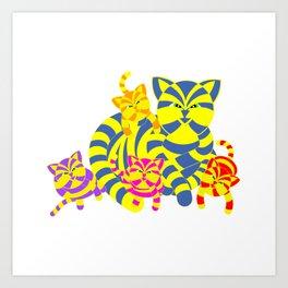 CATS FAMILY Art Print
