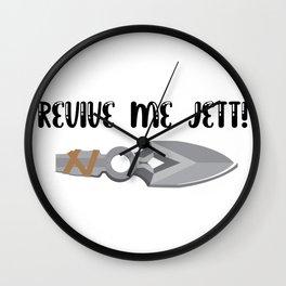 Revive Me Jett Valorant Meme Wall Clock