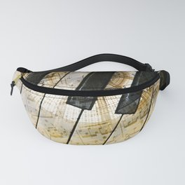 Piano Keys Music Collage abstract Fanny Pack