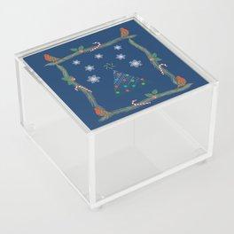 Christmas Pattern Collage Acrylic Box