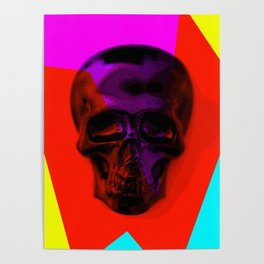 Skull on colours Poster