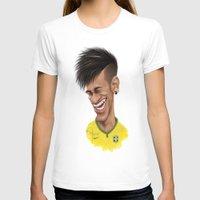 brazil T-shirts featuring Neymar - Brazil by Sant Toscanni
