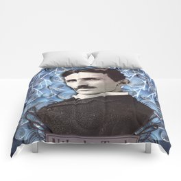 Nikola Tesla poster - Paper art print Comforters
