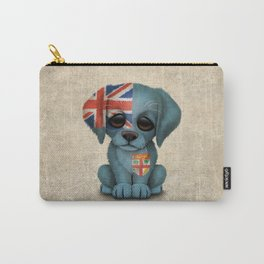 Cute Puppy Dog with flag of Fiji Carry-All Pouch