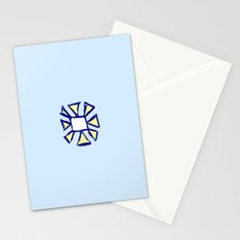 flower and square Stationery Cards