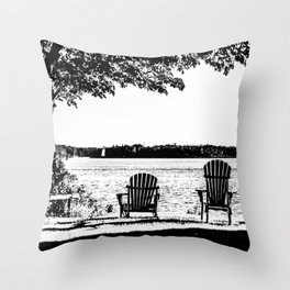 Weekend At The Cottage Throw Pillow