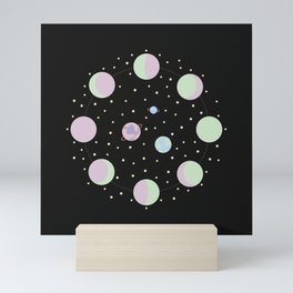 And You? - Moon Phases Illustration Mini Art Print