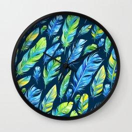 Boho Feather Pattern Part 6 Wall Clock