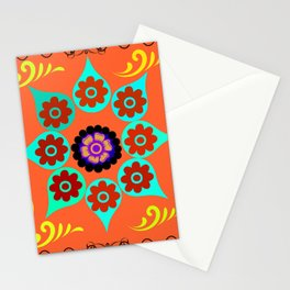 Talavera Tile Orange Stationery Cards