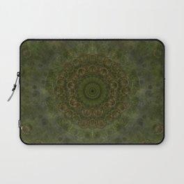 """Autumn mandala"" (Green-Grey Pattern) Laptop Sleeve"