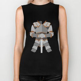 knight in shining armor sword suit halloween funny Biker Tank