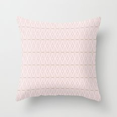 Pink Geometric Lines Throw Pillow