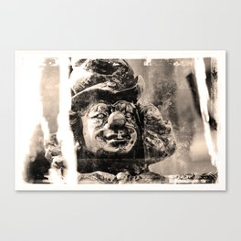 Clownsfigur am Sarasanibrunnen in Dresden Canvas Print