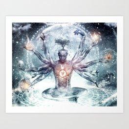 MEN~ABSTRACT Art Print