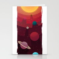 solar system Stationery Cards featuring Solar System by badOdds
