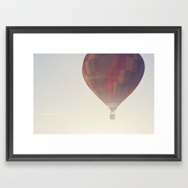 hot air balloon in the sunlight Framed Art Print
