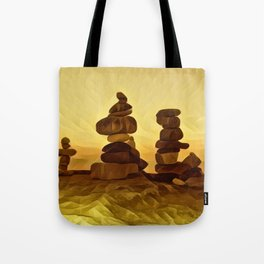 The Three Inukshuk Tote Bag