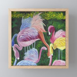 Flamingo Love Framed Mini Art Print
