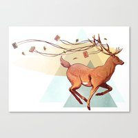 antlers Canvas Prints featuring Antlers by Joel Benjamin