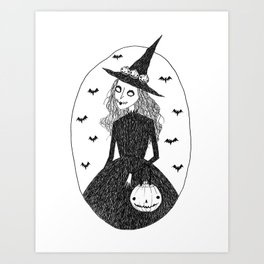 Halloween Witch Art Print