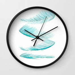 falling palm leaves watercolor Wall Clock