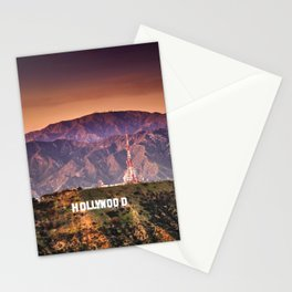hollywood sign aerial view Stationery Cards