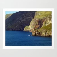 league Art Prints featuring Slieve League by Steve Watson