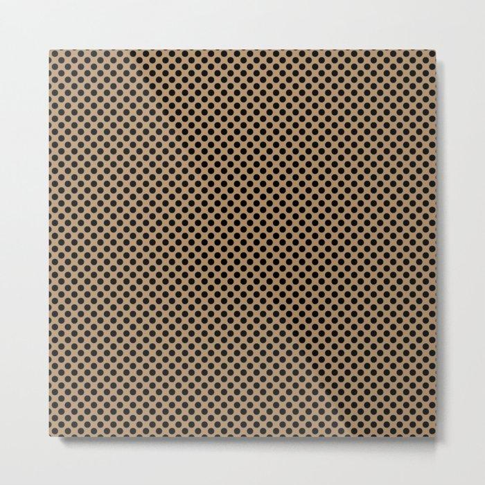 Iced Coffee and Black Polka Dots Metal Print