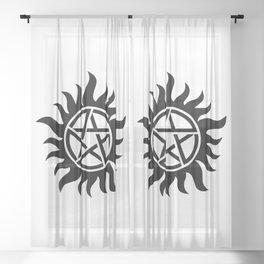 Anti-possession sigil Sheer Curtain