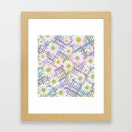 Daisy Plaid Framed Art Print