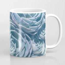 Blue and Green Succulent Coffee Mug