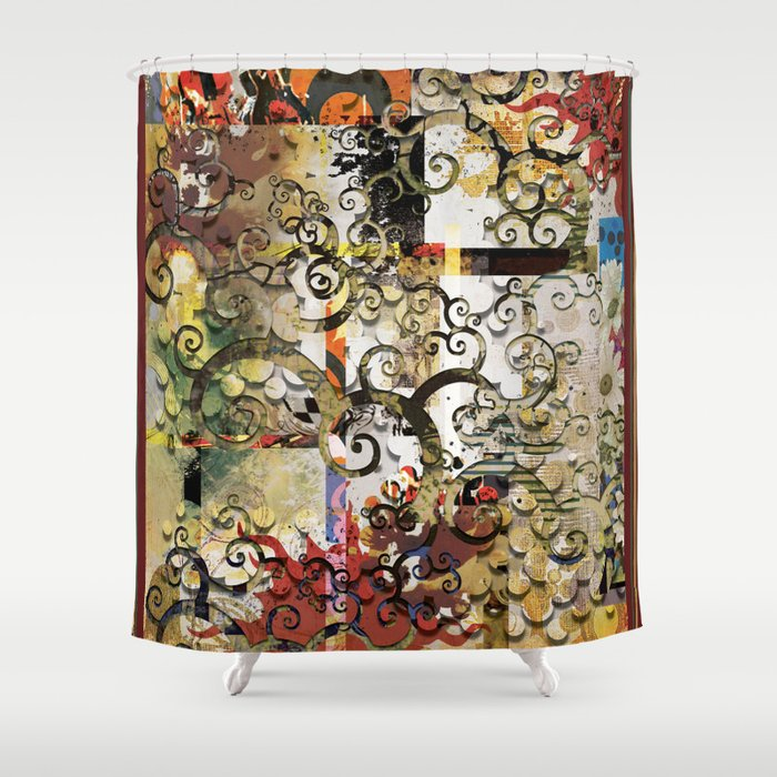 Abstract Tree Of Life Shower Curtain By Aprilgann