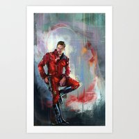 star lord Art Prints featuring Star-Lord by Wisesnail