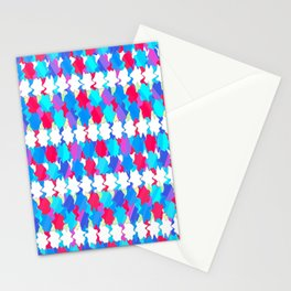 Octagons 2 - Blue Stationery Cards