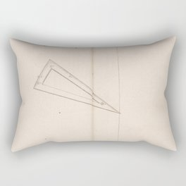 Johann Bayer - Uranometria / Measuring the Heavens (1661) - 43 Triangulum Rectangular Pillow