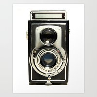 cameras Art Prints featuring Vintage Camera by Ewan Arnolda