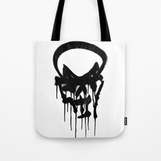 Graffiti Skull Tote Bag