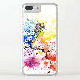 Underwater rainbow : the seahorse Clear iPhone Case