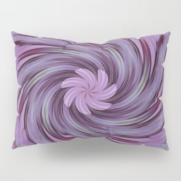 Abstracted Twirl Pink Hydrangea Flowers Pillow Sham