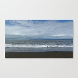 Blue sea, blue sky Canvas Print