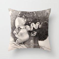 The bride of frankenstein elsa lancaster Throw Pillow