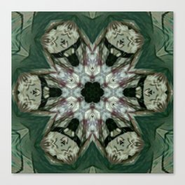 The Green Unsharp Mandala 6 Canvas Print