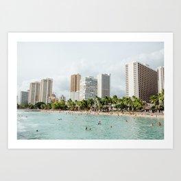 Waikiki Beach Art Print