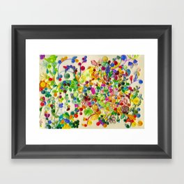 My little garden Framed Art Print