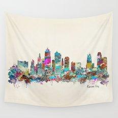 kansas city Missouri skyline Wall Tapestry